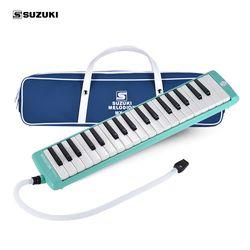 SUZUKI MX-37D 37-Key Melodion Melodica Instrumen Pianica dengan Corong Panjang & Pendek Membawa Tas Kain Pembersih untuk anak