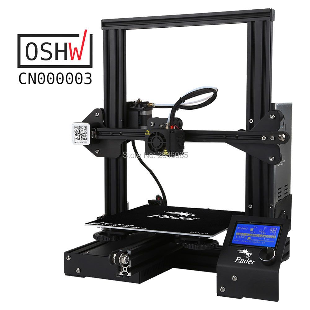cheap 3d printer Creality Ender3/Ender-3X Upgraded Tempered Glass Optional,V-slot Resume Power Failure Printing DIY KIT Hotbed