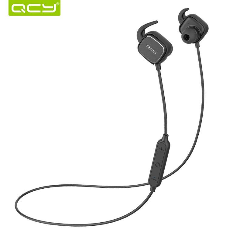QCY QY12 sports ear hooks headphones wireless bluetooth V4.1 earphones magnet switch <font><b>headset</b></font> with Mic for iphone 6 7