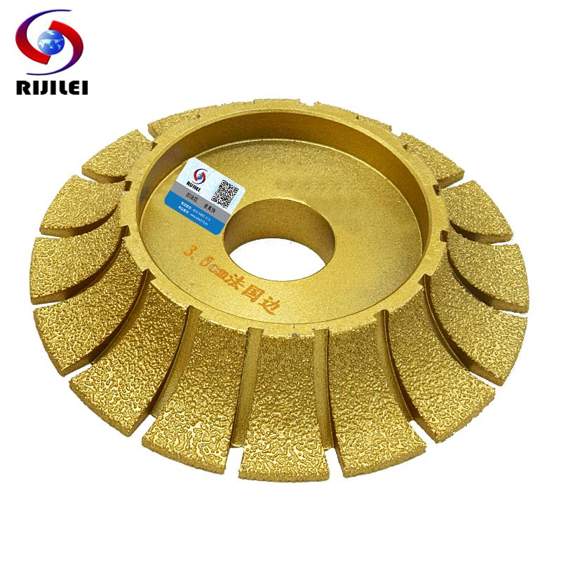 RIJILEI 140mm*30mm Brazing Diamond profiling wheels for marble and Granite Angle Grinder Grinding wheel Marble edging discs MX45