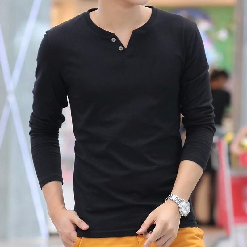 D'été de nouveaux hommes à manches courtes T-shirts pur couleur col de réparation