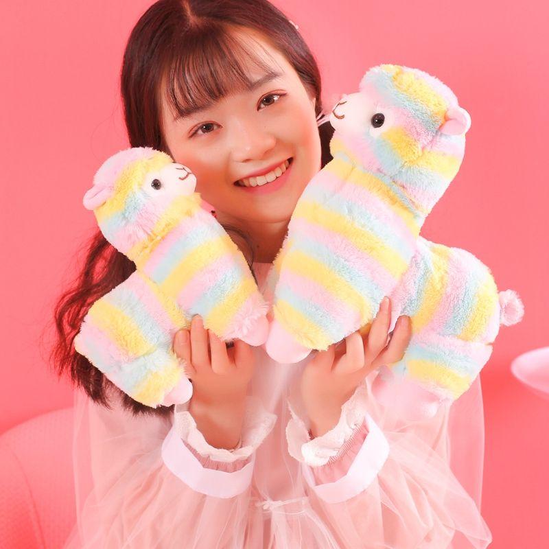 1pc 20cm Rainbow Alpaca Vicugna Pacos Plush Toys for Children Japanese Soft Plush Alpacasso Baby Stuffed Animals Alpaca Gifts