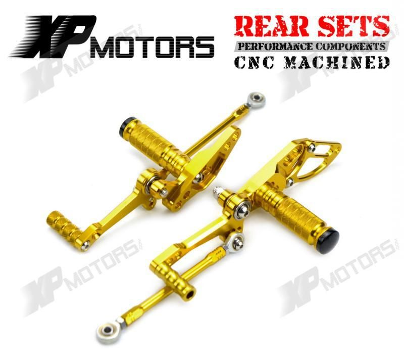 Motorcycle Gold CNC Racing Foot Pegs Pedals Adjustable For Ducati StreetFighter S 1100 2009 2010 2011 2012 2013