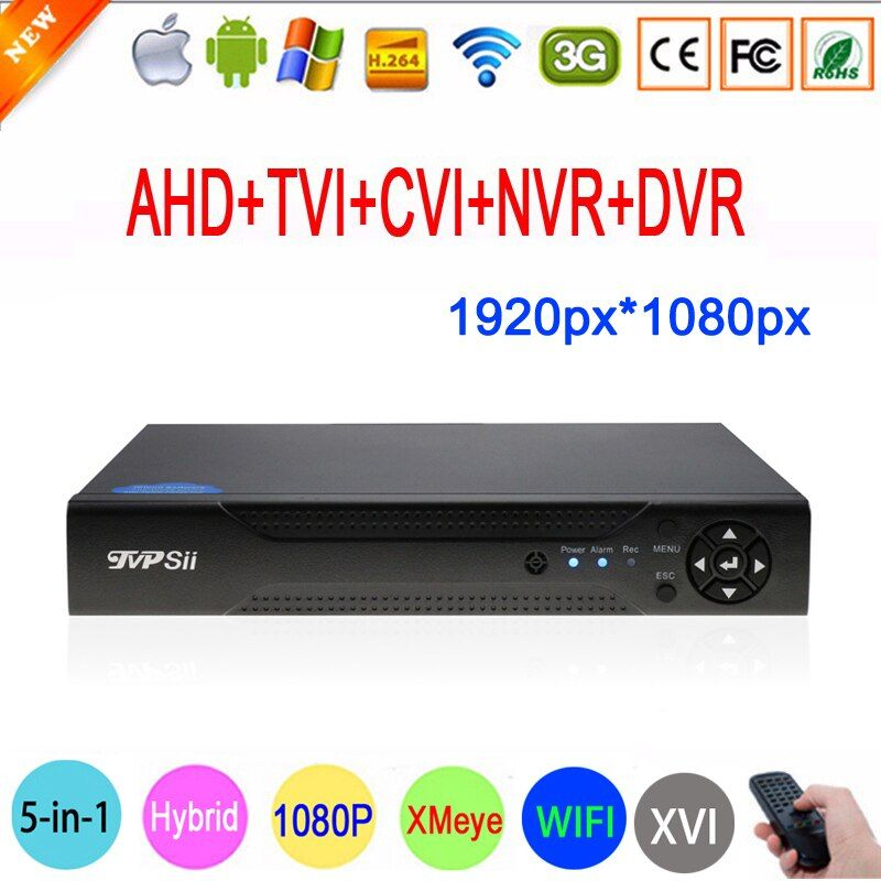 2MP Surveillance Camera Xmeye 1080P Hi3531A 16CH 16 Channel 5 in 1 Coaxial WIFI Hybrid NVR CVI TVI AHD CCTV DVR Free Shipping