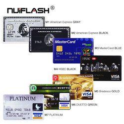 Kartu Kredit USB Flash 8 GB 4 Gb 16 GB CLE USB 2.0 32 GB Pen Drive Memori stick 64 GB Flashdisk Real Capacity USB Kunci