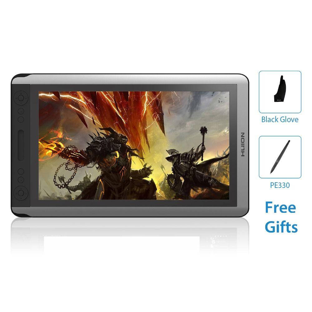 HUION KAMVAS GT-156HD V2 15,6 Zoll IPS Stift Tablet Monitor Digitale Grafiken Zeichnung Display Monitor LCD mit 8192 Ebenen und geschenk