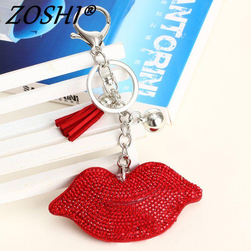 Mode Sexy Lippen Schlüsselbund Tasche Charme Anhänger Schlüssel Halter Schlüsselring Schmuck Für Frauen Mädchen Geschenk Gold Silber Keychain Schmuck Neue