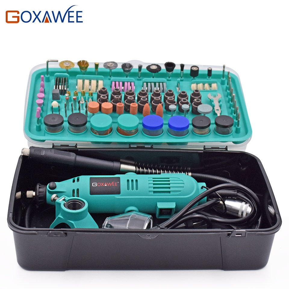 GOXAWEE 30000rpm Electric Drill Power <font><b>tools</b></font> Mini Grinder Rotary <font><b>Tools</b></font> With Polishing <font><b>Tools</b></font> Set Mini Grinding <font><b>Tools</b></font> Mini Grinder