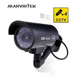 Наружная Фальшивая камера для домашней безопасности Видео манекен наблюдения камера cctv videcam мини-камера с батареей мигающий светодиодный