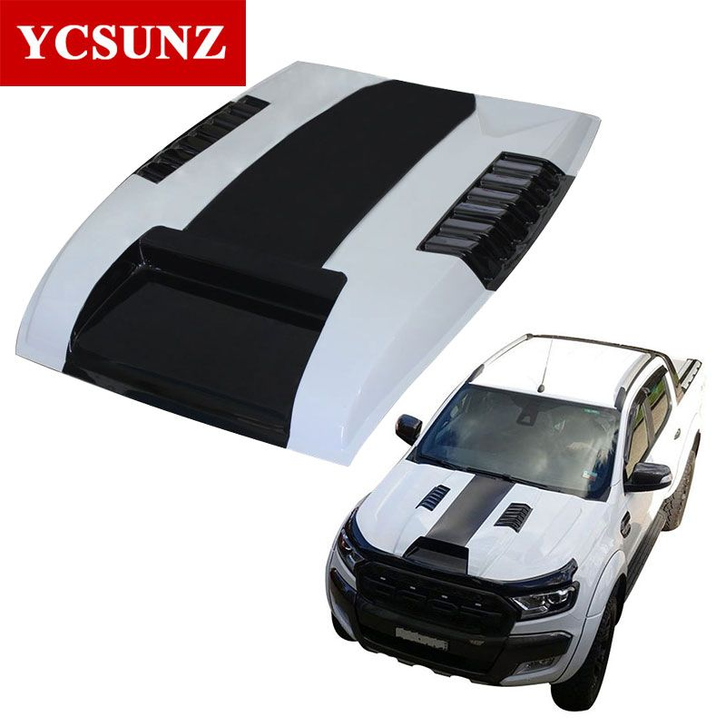 2012-2015 Raptor Bonnet Scoop Hood For Ford Ranger T6 Bonnet Hood For Ford Ranger T6 2013 2014 Wildtrak Accessories Ycsunz