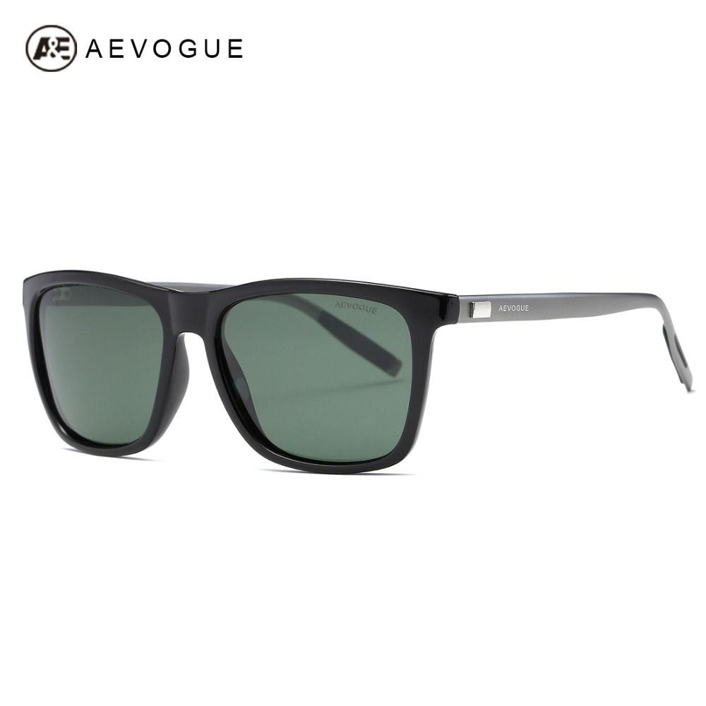 AEVOGUE Polarized Sunglasses Men TR90 <font><b>Frame</b></font> Aluminium Magnesium Temple Summer Style Luxury Sun Glasses UV400 AE0521