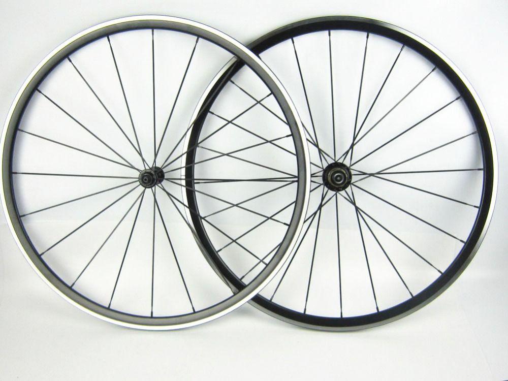 wholesale pillar 1432 spoke Alloy road bike wheel with bearing hub 700C Kinlin XR 200 light weight anodization black