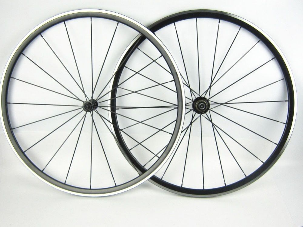 wholesale pillar 1432 spoke Alloy road bike wheel with bearing hub 700C Kinlin XR 200 light weight anodization black