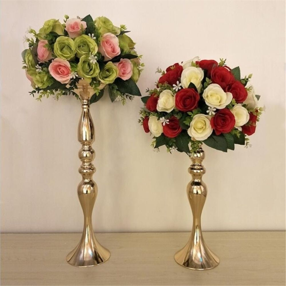 Gold Candle Holders 50cm/20