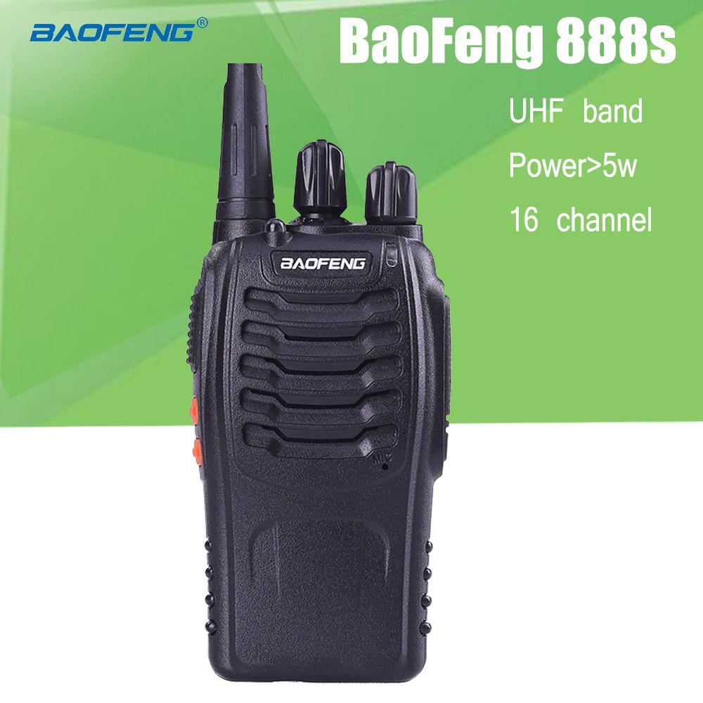 BaoFeng BF-888S 2 Way Radio UHF Rechargeable Talkie Walkie CB Radio Communicateur Portable De Poche à Deux Voies Émetteur-Récepteur Radio