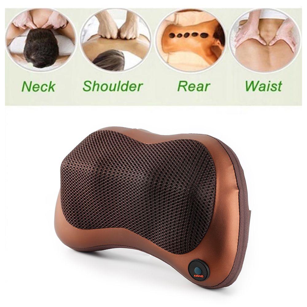 Electric Infrared Heating Kneading Neck Shoulder Back Body Spa Massage Pillow Car Chair Shiatsu Massager Masaj Device