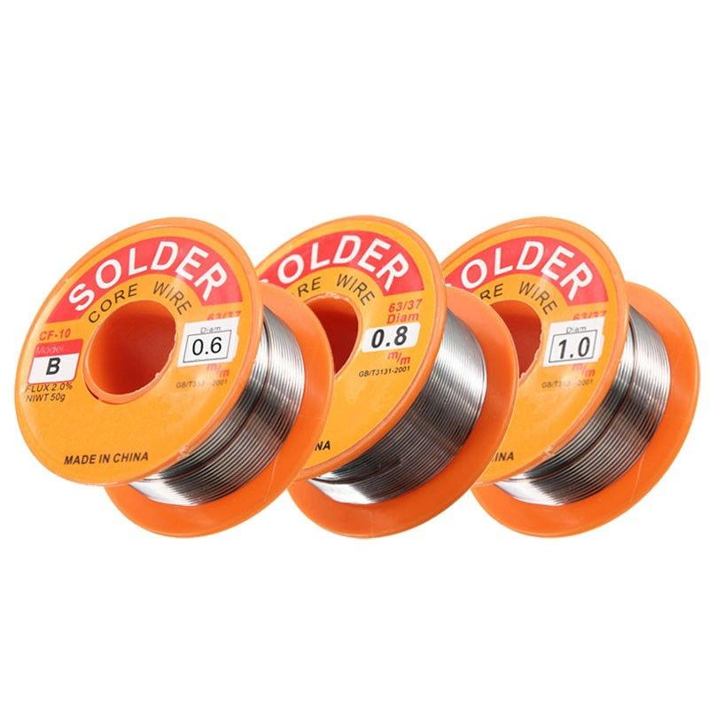 New 63/37 Rosin Core Solder Wire FLUX 2.0% Rosin Core Welding Tin Lead Solder Iron Wire Reel 0.5mm /0.6mm/0.8mm/1.0mm