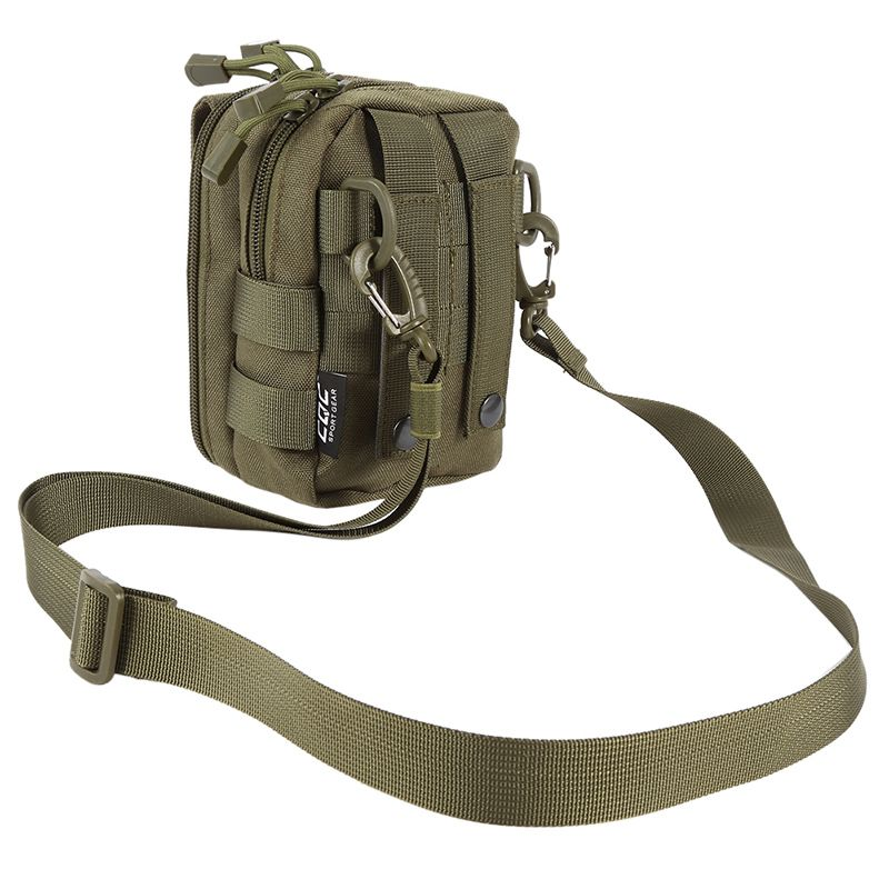 600D Nylon Bag Waterproof Military Molle Sport Bag Utility Travel Waist Bag Sling Shoulder Bags Hiking Outdoor Pouch