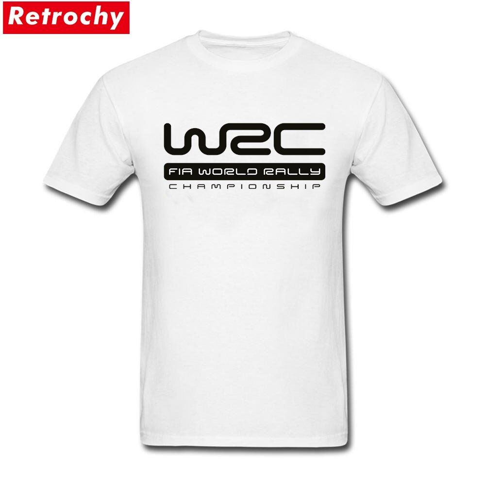 2017 Latest Short Sleeved Men's Summer WRC World Rally Championship Logo T Shirt Round Neck Game T Shirt for Men