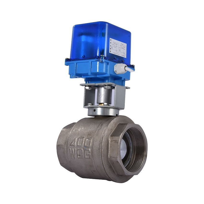 DN80 Electric Ball Valve Copper Alloy Small Electric Ball Valve /Valve Actuator 12V/24V/220V 0.6Mpa-2.5Mpa -0~70 Degree Hot Sale