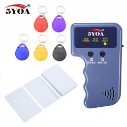 125 KHz EM4100 RFID Copier Writer Duplikator Programmer Reader + T5577 EM4305 Dapat Ditulis Ulang ID Keyfobs Kategori Kartu 5200 Handheld