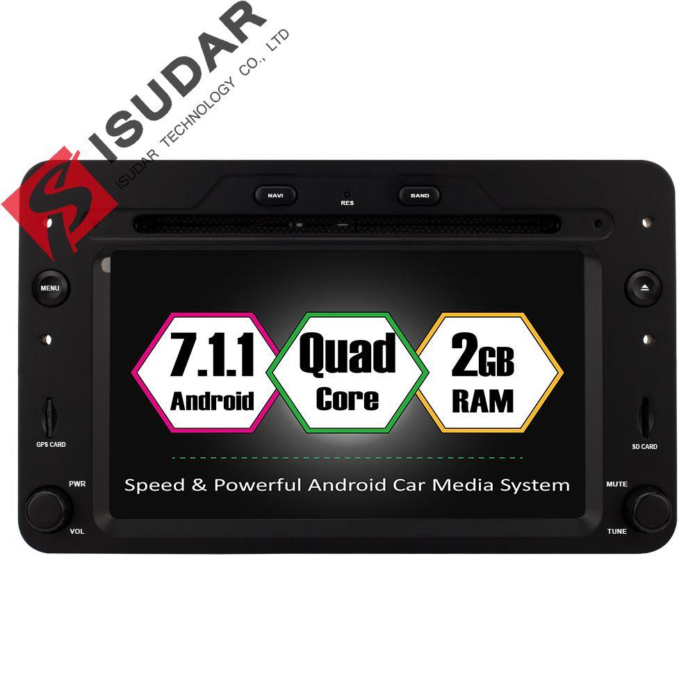 Isudar Auto Multimedia-Player GPS Android 7.1.1 Für Alfa/Romeo/Spider/Brera/159 Sportwagon CANBUS 2 gb RAM Auto Radio 1 Din Wifi