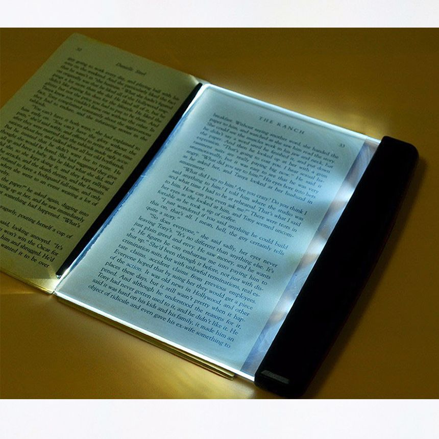Creative Fashion LED Night Lights Book Light Reading Lamp Novelty Wireless Battery Lamps for Book Read lampara para leer