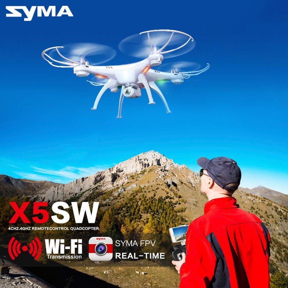 Syma X5SW Drone avec WiFi Caméra en temps Réel Transmettre FPV Quadcopter (X5C Mise À Niveau) HD Caméra Dron 2.4G 4CH RC Hélicoptère #