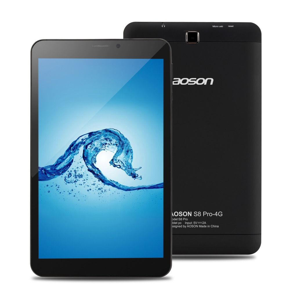 Aoson S8 Pro 8 zoll tablet Android 6.0 4g Anruf Tabletten 16 gb + 1 gb Quad Core MTK8735B quad Core 1,3 ghz SIM GPS WIFI Tablet Pc