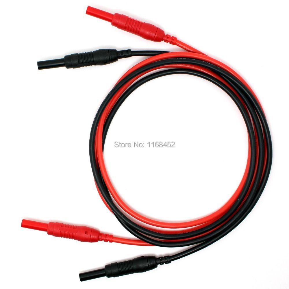 TL491 haute qualité 13AWG 2.5mm2 silicone flexible 4mm bouchons rétractables Test cordon de raccordement