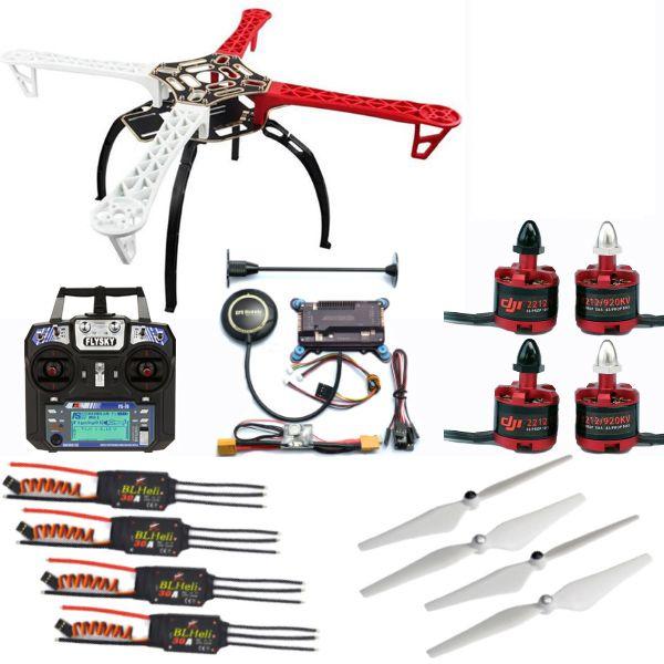F450 Quadcopter Frame Drone Kit+2212 920KV/1000KV Motor+BLheli 30A ESC+9450/1045 Prop+APM+Remote control with receiver DIY