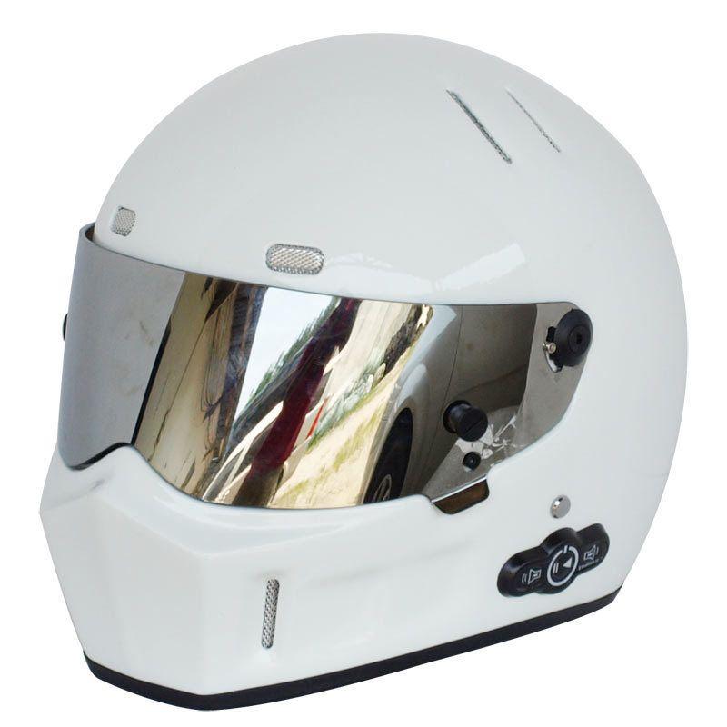 Kühle Qualität Kadin Motorrad Helm Helme für Skifahren Kart Racing FRP Bluetooth Helm mit PC Objektiv Coolmax innenfutter