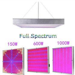 150 W 600 W 1000 W alta potencia lámpara planta AC85 ~ 265 V espectro completo llevó plantas de invernadero hidroponía flor panel crece la luz