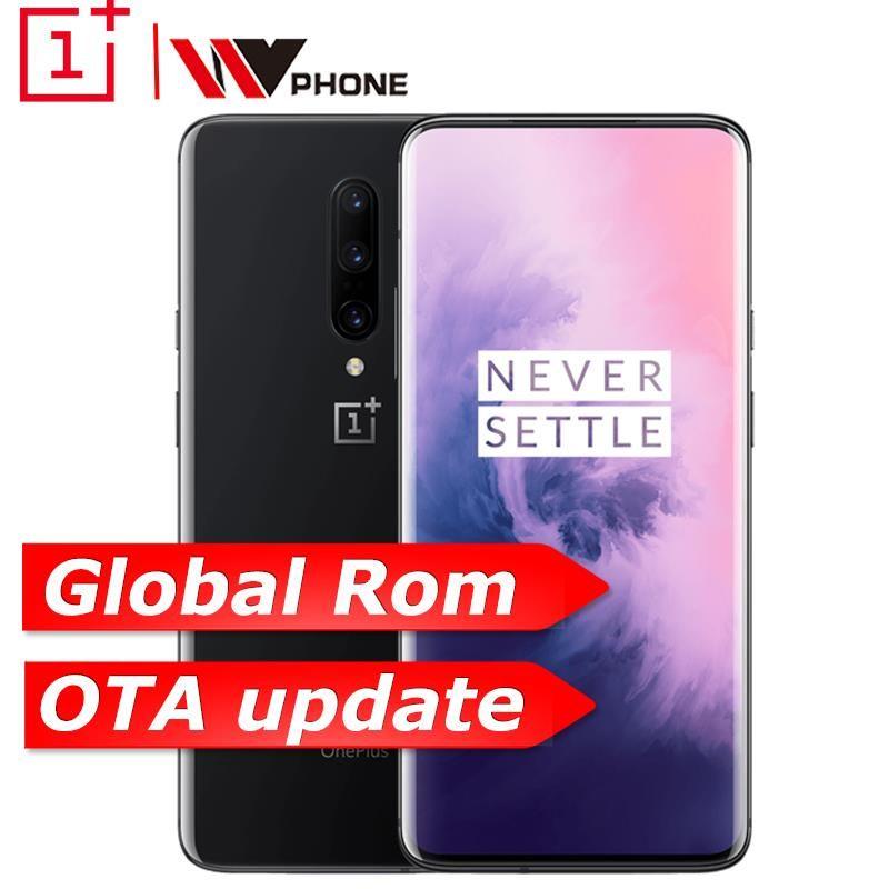 Globale ROM Oneplus 7 Pro 6 GB 128 GB Smartphone 6,67 zoll 48MP Triple Kamera 30 W Ladegerät NFC 4000 mAh Snapdragon 855 AMOLED Bildschirm