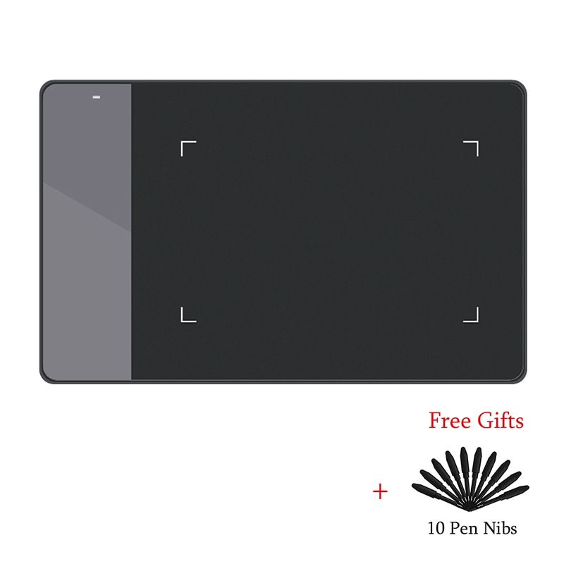 HUION 420 Digital Graphics Drawing Tablet (Perfect for osu )Tablet Pen <font><b>Pressure</b></font> Signature Pad with Ten Pen Nibs Black and White
