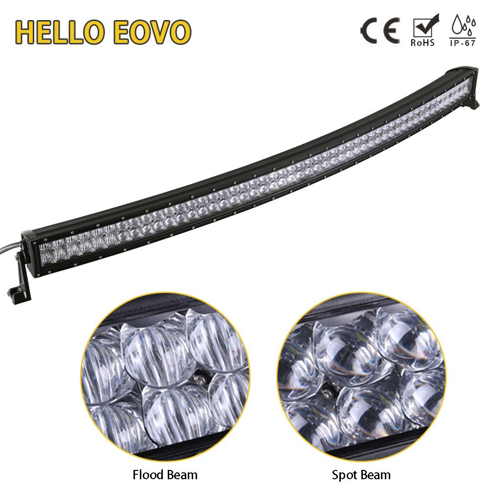 HELLO EOVO 5D 52 inch Curved LED Light Bar for Work Indicators Driving Offroad Boat Car Tractor Truck 4x4 SUV ATV 12V 24V