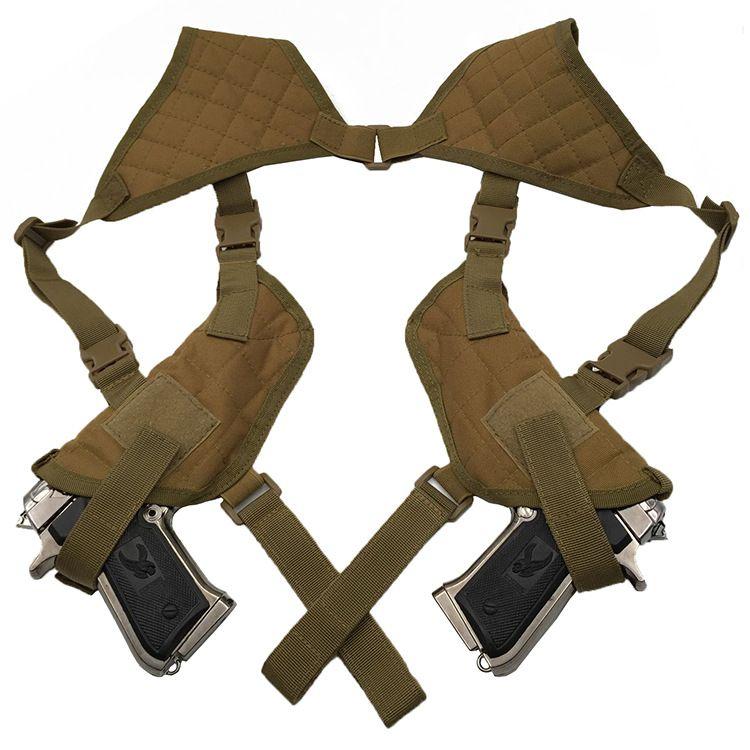 Tactique Gauche Droite Pistolet Pistolet Double Épaule Étui Sac Airsoft Chasse pour Glock 17 19 22 23 25 30 31 32