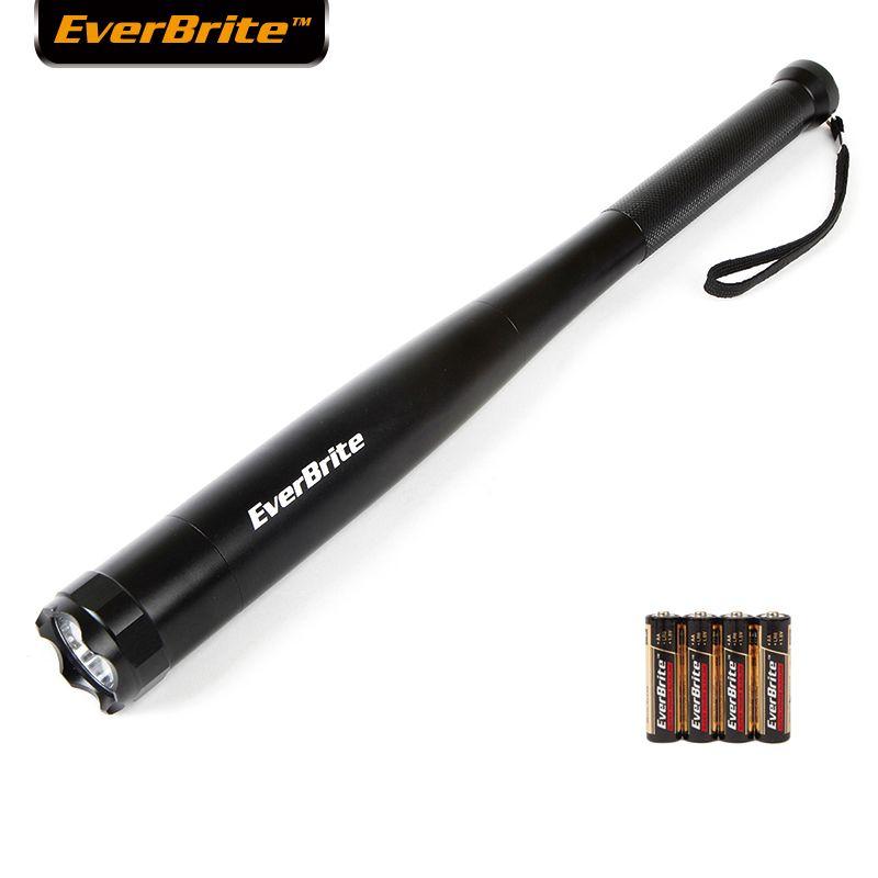 Everbrite Baseball Bat LED Flashlight 2000 Lumens Baton Torch Light for Self Defense Security Camping Light