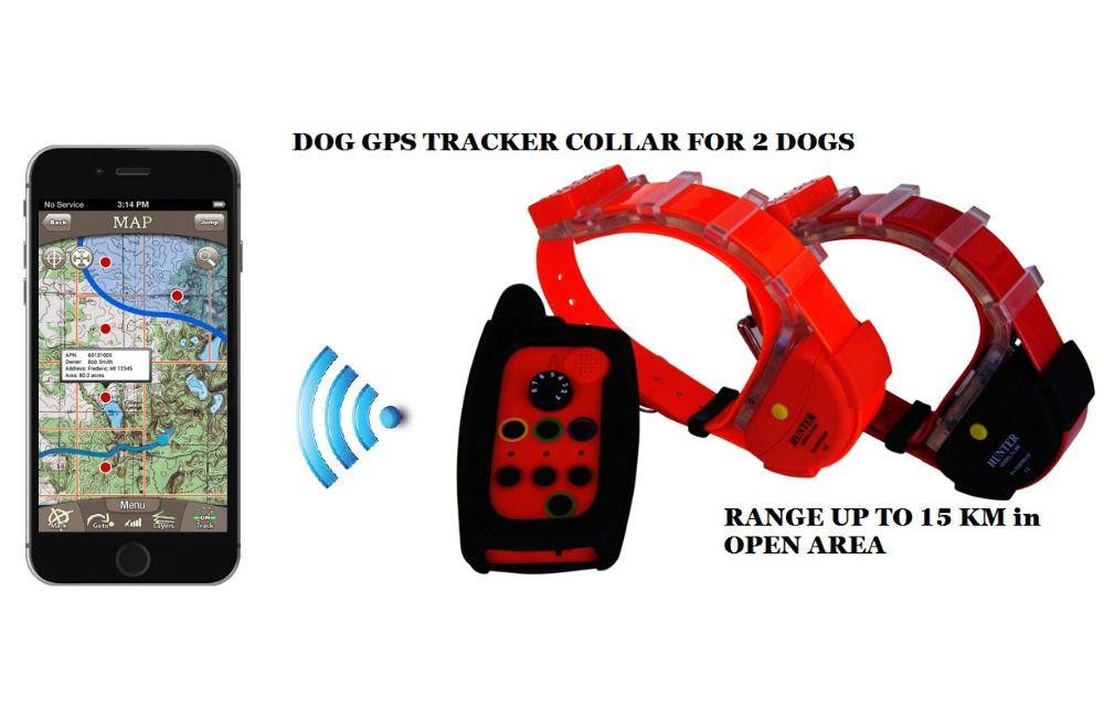 IMPERMÉABLE CHIEN GPS TRACKER POUR 2 CHIENS