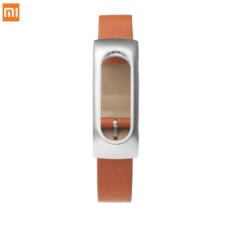 Clearance Original Xiaomi Mi Band 1 Genuine Leather Wristbands Strap Belt Genuine Leather Stainless Steel Wristband Replacement
