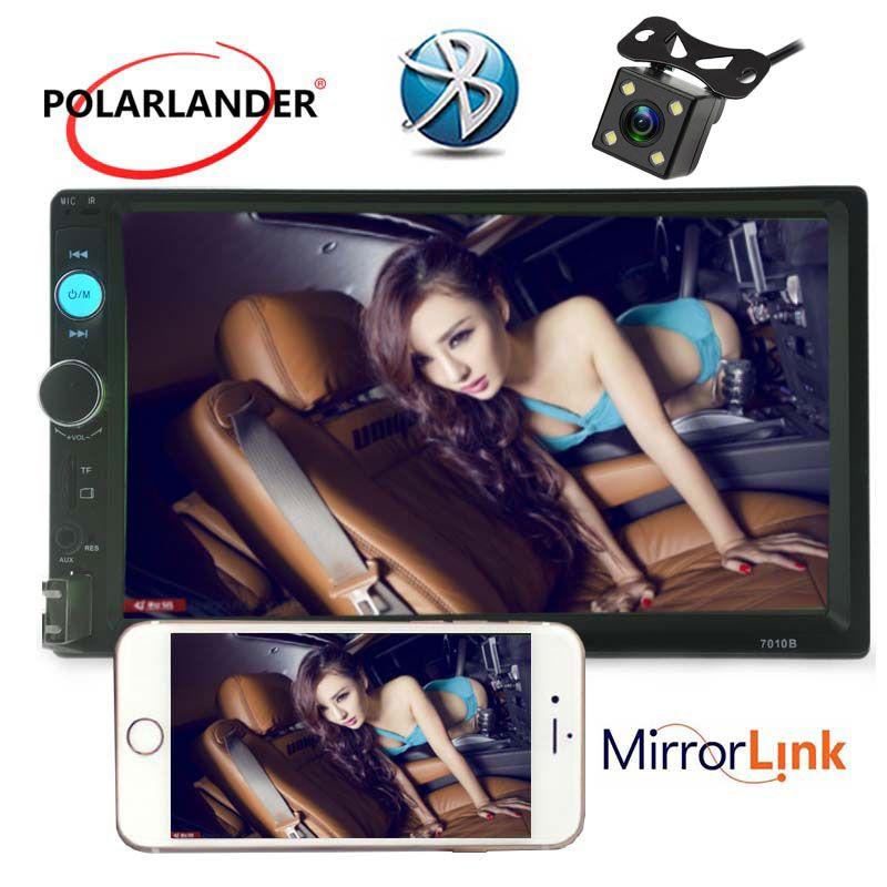 Spiegel Link 7 zoll 2 din auto-radio-player Bluetooth Touch Screen unterstützung FM/TF/USB/Auxin /hinten kamera MP5 MP4 player