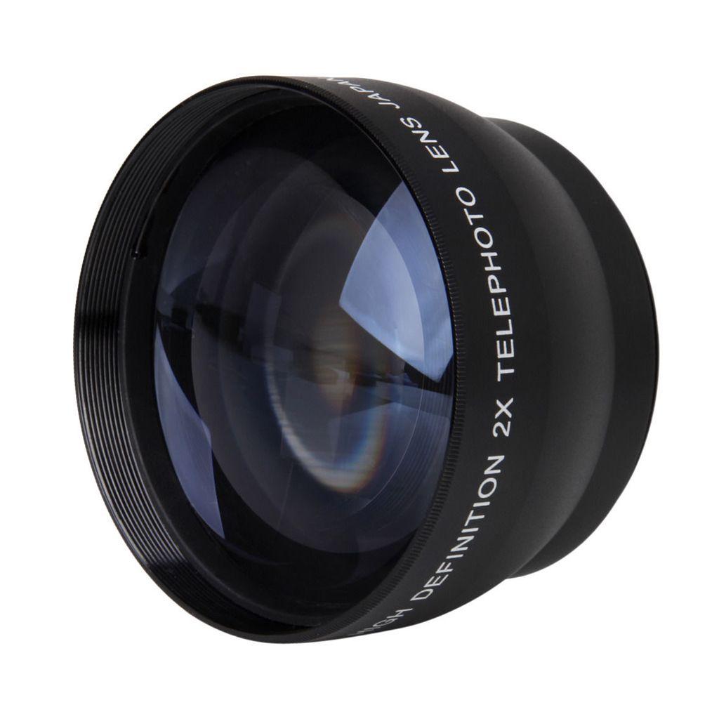 52mm 2X Grossissement Téléobjectif pour Nikon AF-S 18-55mm 55-200mm Lentille Caméra