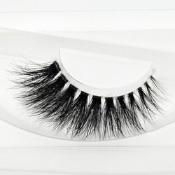 New Arrival High Quanlity 3D Real Mink Lashes Crystal Transparent Terrier Multilayer Soft Thick False Eyelashes 1 Pair F2