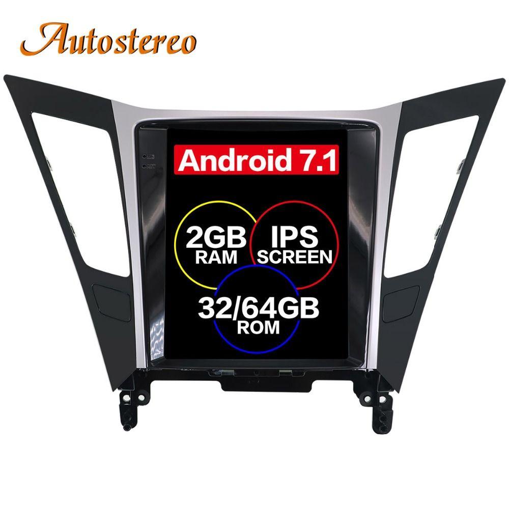 Tesla stil Android Auto GPS-Navigation auto Keine DVD-Player Für Hyundai Sonata 2012 2013 2014 auto stereo einheit multimedia navi