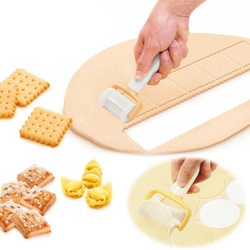 3 Pcs/ensemble Roulant Ange Biscuit Ravioli Cutter | Roulant sertie cercle cutter | Delicia Roulant Carré Cutter