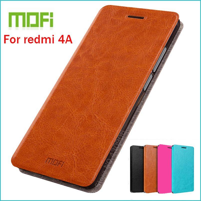 Étui en cuir MOFI pour Xiaomi redmi 4A étui pour redmi 4a housse en cuir Flip de haute qualité pour Xiaomi redmi 4A