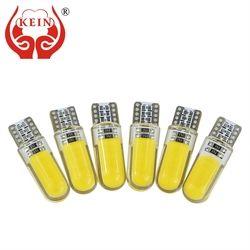 KEIN 10 piezas T10 W5W LED COCHE interior luz COB silicona señal auto 12 V 194 501 cuña del lado estacionamiento para lada coche de estilo