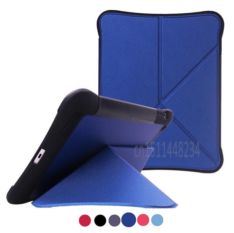 for iPad 2 3 4 9.7 case cover, New design deformation shockproof Tablet stand shell case black, blue, red, Magnets case