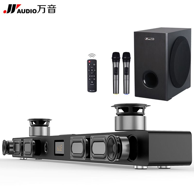 JY Audio Soundbar Column Home Theater DTS 2.1 Virtual Surround Soundbar For TV Surround Sound System Wireless Bluetooth Speaker