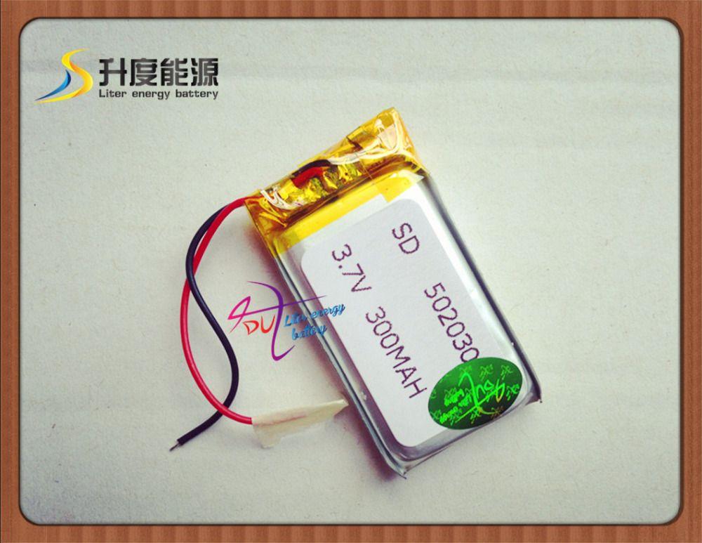 502030 легче литиевая батарея 3.7 В 300 мАч маленькие колонки указывают чтение пера MP3 Bluetooth Батарея